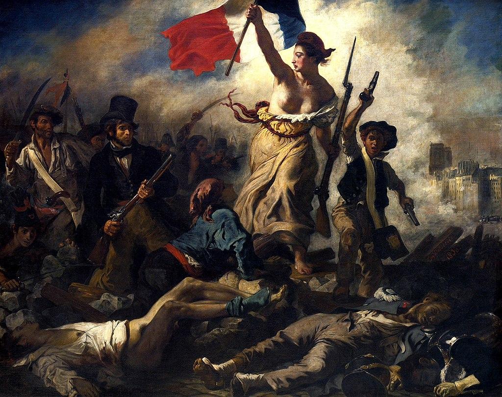 Delacroix: A szabadság vezeti a népet, 1830.